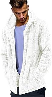 ShallGood Uomo Cappotto Autunno Inverno Casual in Pelliccia Sintetica Caldo Classico Felpe con Cappuccio Elegante Faux Man...