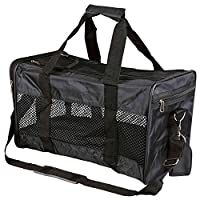 Ryan Bag Black - Size Small: 26 × 27 × 47 cm Nylon can be opened at the front and top with extra pocket removable Adjustable shoulder strap short lead prevents the pet jumping out with net inserts for good air circulation