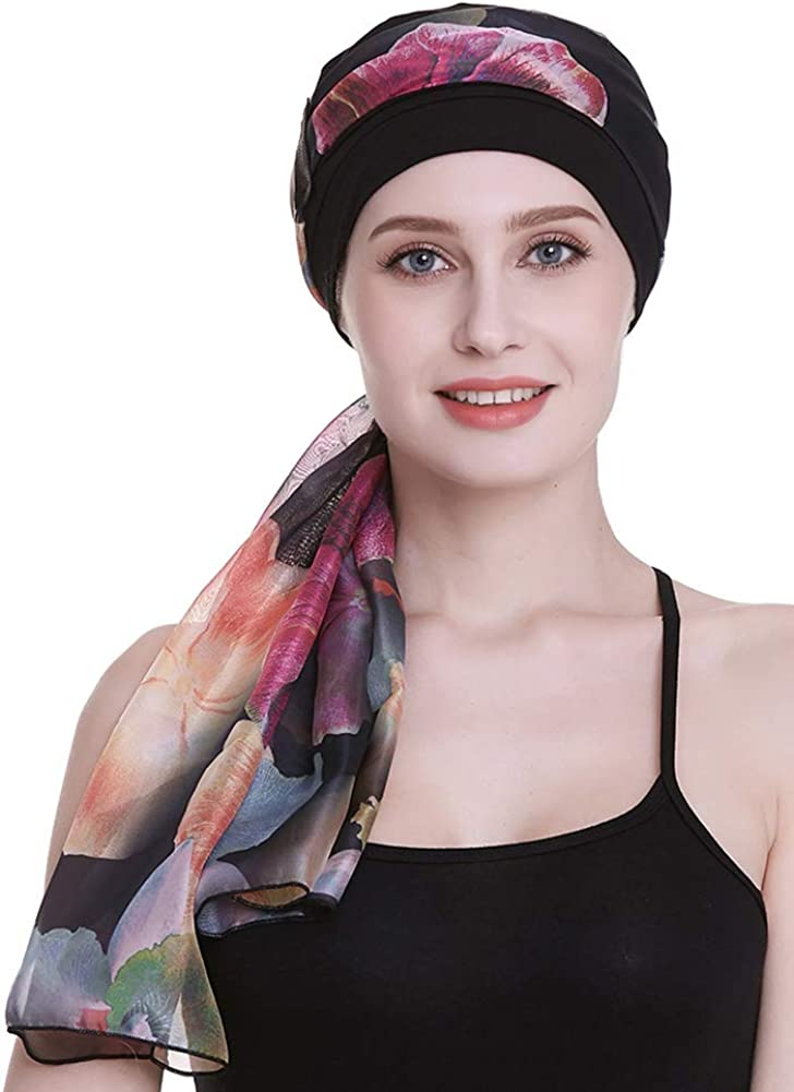 Elegant Chemo Time sale Cap With Silky Scarfs S Hair Women Al sold out. Cancer Loss For