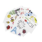 3D Printer Drawing Paper,Adv-one Design Paper Molds/ 3D DIY Drawing Paper Models for Practice 20pcs/4 Different Style + 1 Pcs Clear Plate Set