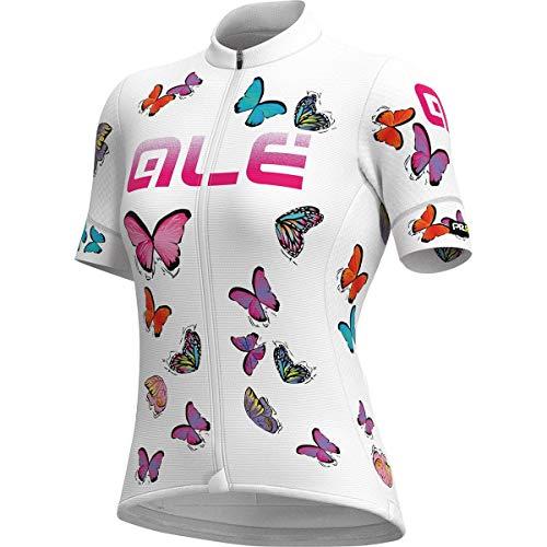 Ale Damen Butterfly Radtrikot, White, XS
