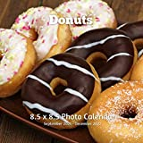 Donuts 8.5 X 8.5 Calendar September 2021 -December 2022: Monthly Calendar with U.S./UK/ Canadian/Christian/Jewish/Muslim Holidays-Cooking Frosted Donuts