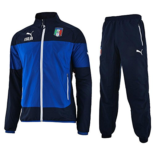 Puma Italia Leisure Training Jr.Suit / Italien Kinder Trainingsanzug Tracksuit Azzurri blau