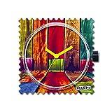 S.T.A.M.P.S. Montre Stamps–Cadran Colorful Walls Bracelet en cuir Classic Rouge