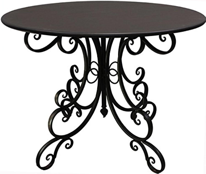 Nene-Home IsidGold Tisch aus dunkelrostfarbenem Schmiedeeisen