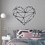 Creativity Geometry - Pegatinas de pared con forma de corazón, decoración de dormitorio, cuarto de bebé, pegatinas de pared, 43 x 52 cm