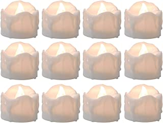 Tealight Candles Battery Operated with Timer (6Hrs ON 18Hrs Off Cycle), 12pcs Timing LED Flickering Flameless Tea Light El...