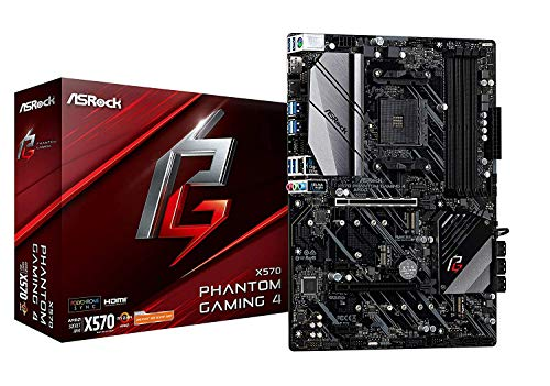 ASRock X570 Phantom Gaming 4AM4/USB3.2/HDMI/RJ45 Motherboard
