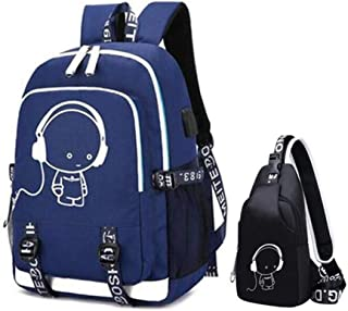 Waterproof Travel Laptop Backpack Black And White School Bags For Boys C6