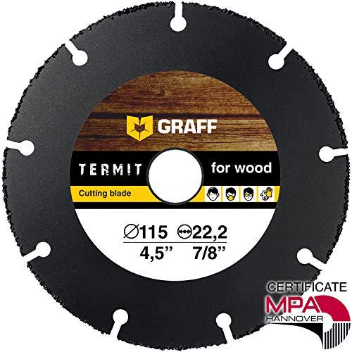 Hartmetall Flexscheibe für Holz GRAFF® Termit 115mm, Winkelschleifer Multi Wheel Trennscheibe (wood carving disc) zum Schneiden von Holz, Kunststoff und Plastik, Speedcutter (115 mm)