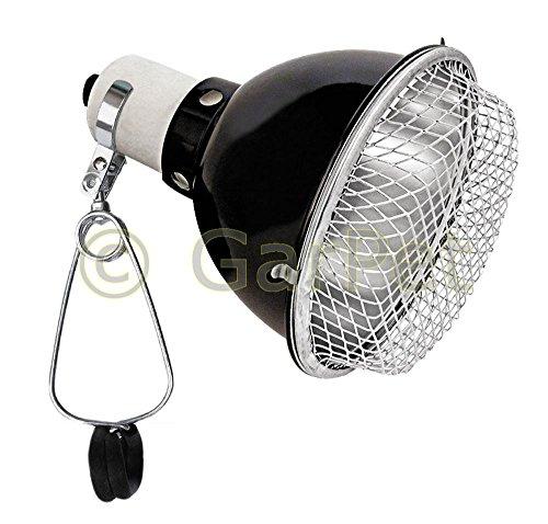 Terrarium Klemmlampe Reflektor Schutzgitter Clamp Lamp Keramikfassung Lampe E27 14 cm