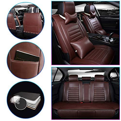 ALLYARD Coprisedile Auto per XC60,S90,XC90,S60L,XC40,V60,V90,V40 5-Sede Coprisedile Auto PU Pelle Posti Protezioni Coprisedili Auto Interno Seat Cover Set Accessori Rosso