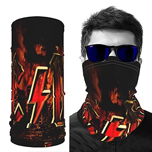 Máscara de seda de hielo, Ac Dc para hombre, para motocicleta, ciclismo, media cara, máscara para hombres, deportes al aire libre, ciclismo, patinaje y pasamontañas