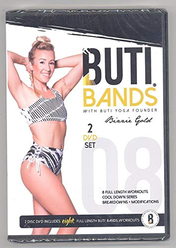 Buti Bands DVD with Buti Yoga Founder Bizzie Gold 2-disc set 8 Full Length Workouts Cool Down Series Breakdowns Modifications