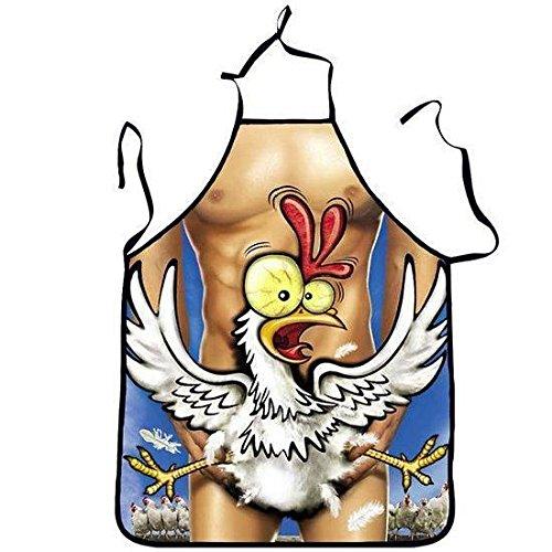 Tablier de cuisine humoristique Homme Sexy Poulet - Cuisine Cadeau Deguisement Humour Noel - 444