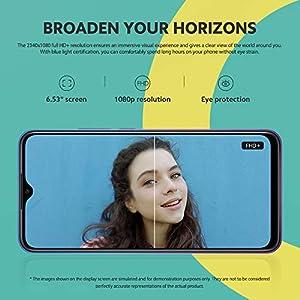 """Xiaomi Redmi 9 Teléfono 4Gb Ram + 64Gb Rom, 6.53"""" Fhd+ Dot Drop Pantalla, Me Tek Helio G80 Octa-Core Procesador, 8Mp Frontal & 13Mp+8Mp+5Mp+2Mp Ai Quad Cámara Trasera Versión Global (Morado)"""