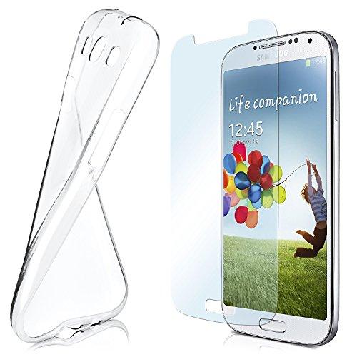 MoEx Custodia in Silicone Compatibile con Samsung Galaxy S4 [360 Gradi] Pellicola Protettiva in Vetro con Cover Posteriore Trasparente per telefoni cellulari Compatibile con Samsung Galaxy S 4