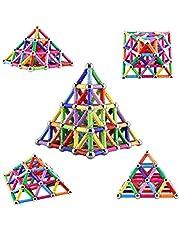 Veatree 206 stycken pussel magnetiska byggstenar leksak magnet BAU byggsats utbildning leksak för barn lek stapling spel med magnetiska trollreglage och pinnar