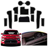 Door Slot Mat for 2020 2021 Soul Booster Non-Slip Interior Door Groove Gate Pad Fit kia Door Compartment Cup Center Console Liners Car Accessory Decoration