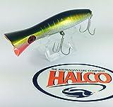 Irresistible Topwater Pesca por Halco 'Roosta popper 160, color H71Yellowfin