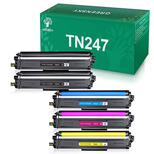 GREENSKY Cartucho de Tóner Compatible Repuesto para Brother TN247 TN243 para HL-L3210CW HL-L3230CDW HL-L3270CDW MFC-L3710CW MFC-L3730CDN MFC-L3750CDW MFC-L3770CDW DCP-L3510CDW DCP-L3550CDW(5 Paquete)