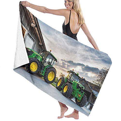 LRIRG Farm Tractor zachte en super absorberende badhanddoek, geschikt voor hotel, zwembad, fitnessruimte, strand