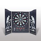 Hengda Cible de fléchettes électronique, 4 affichages LED, jeu de fléchettes 27 jeux et 243 variantes, pour fêtes et soirées de jeux.