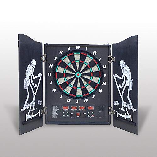 Hengda Dartscheibe, Elektronisches Dartboard 4 LED-Anzeigen Dartspiel 27 Spielen und 243 Varianten Dartautomat für Partys und Spieleabende