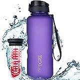 """720°DGREE Trinkflasche """"uberBottle"""" softTouch +Früchtebehälter - 1,5L - BPA-Frei - Wasserflasche für Sport, Fitness, Outdoor, Wandern - Große Sportflasche aus Tritan - Leicht, Bruchsicher, Nachhaltig"""