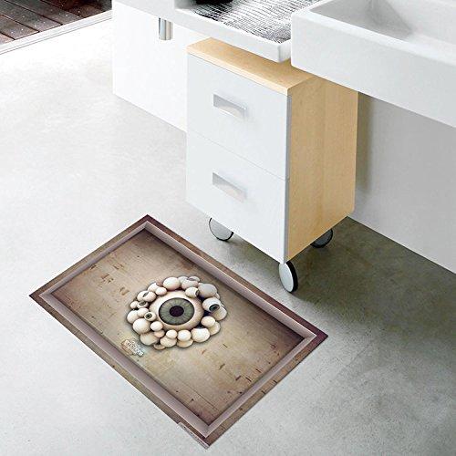 Bazaar PAG 3D badkamer oogappel patroon vloersticker waterdicht wasbaar douchegordijn decor