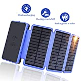 Solar Charger 20000mAh, Soluser Portable Wireless Solar Power Bank...