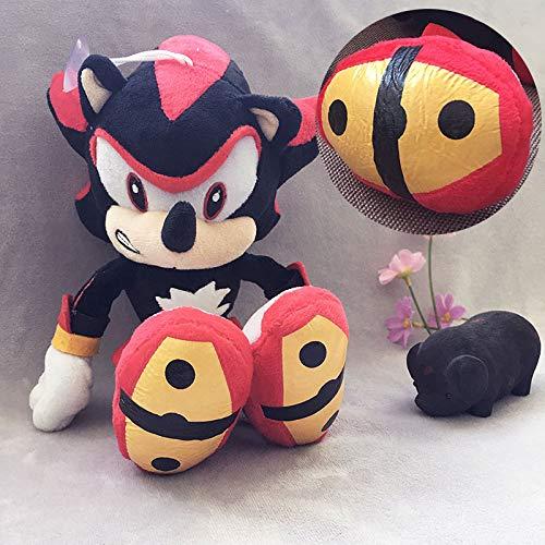 Black Sonic De 28 cm Knuffels Pop Peluche Poppen Anime Speelgoed Cadeaus Voor Kinderen Gratis Verzending