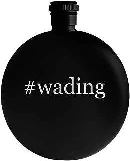 #wading - 5oz Hashtag Round Alcohol Drinking Flask, Black