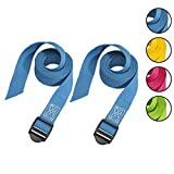 Master Lock 3004EURDATCOL Cinchas de Amarre con Hebilla de Plástico, correa, Envase de 2, Azul/Amarillo/Rosa/Verde, 1.2 m x 25 mm, Set de 2 Piezas