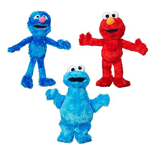 Sesame Street Plush Bundle featuring Elmo, Cookie Monster and Grover, Ages 12 months and up (Amazon Exclusive)