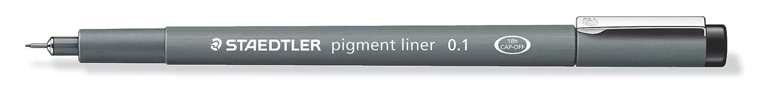 Staedtler Pigment Liner, 0.1mm, Black Ink (308-0.1)