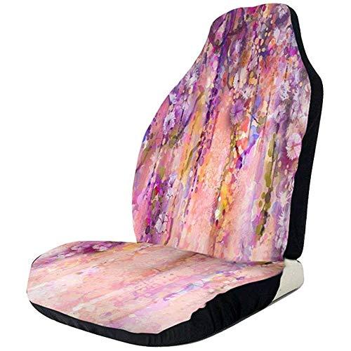 Aquarel Schilderij Effect Wisteria Bloesem Auto Stoelhoezen Universele Auto Voorstoelen Protector Accessoires