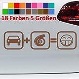 Generic Autocollant Turbo pour voiture Motif camion VW Bomb Car OEM JDM Tuning 18 couleurs 5 tailles