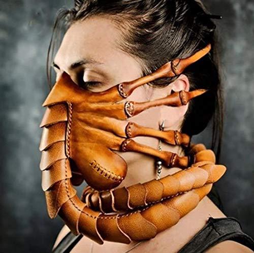 Miaoao-mask Alien Facehugger Latex Maske, Halloween-Maske Latex Maske for Partei (Color : A)