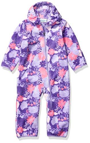 Columbia Snowtop II Baby Bunting, Soft Fleece Sleeper, paisley purple flowers, 6/12