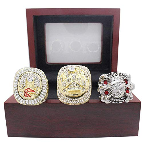 NBA Raptors canadiense campeonato del sistema del anillo para los fanáticos de los hombres de la colección del regalo de visualización y campeón del recuerdo de los anillos de réplica a tamaño 11