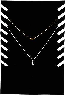 Collier présentoir de collier, flanelle noire pendentif chaîne bijoux présentoirs de buste support de suspension pour coll...