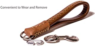 leather tab handles