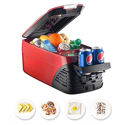 Refrigerador para automóvil de 8 l con compresor, refrigerador de doble uso para el hogar del automóvil para vehículos, camiones, vehículos recreativos, camping, viajes, conducción al aire libre, -18