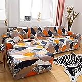 Sofabezug Elastisches Schnittsofa braucht 2 STÜCK Schonbezug Ecke L-Form Sofabezug für Wohnzimmer...