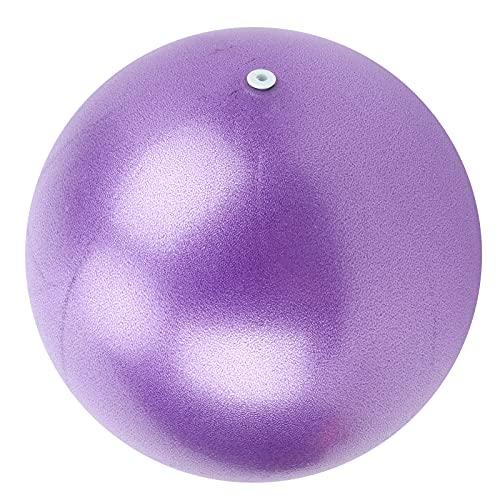 BOTEGRA Bola de Yoga, Bola de Ejercicio de 25 cm Que Puede estimular eficazmente los músculos centrales para el Yoga(Púrpura)