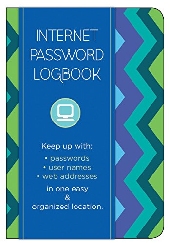 Internet Password Logbook - Pattern Edition: Keep track of: usernames, passwords, web addresses in one easy & organized...