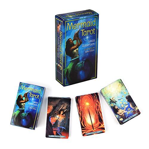Sirena Tarot Adivinación Sheets Tarjetas Tarot Tarjetas de juego para principiantes Family Party
