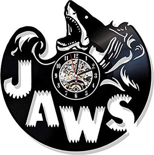 GODYS Reloj de Pared de Vinilo horneado para Hombre y Mujer Que Decora The Shark Club Lounge sin LED