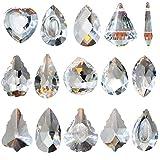 Sonnenfänger Kristall, KUWAN Sonnenfänger Fenster Deko,Kristalle Deko Anhänger Garten Dekoration Regenbogen Hersteller (15 Stück Kristall)